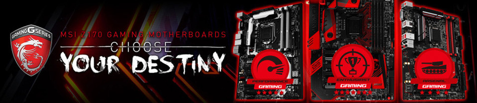 cartes mères MSI Gaming socket 1151 Skylake